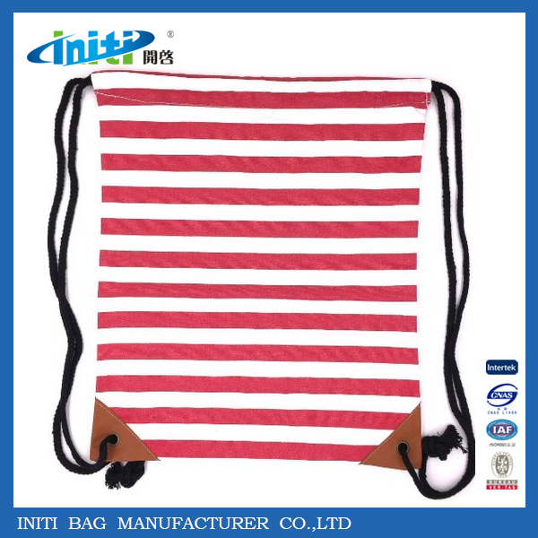 Reusable Promotional Nylon / Cotton Drawstring Shopping Bag