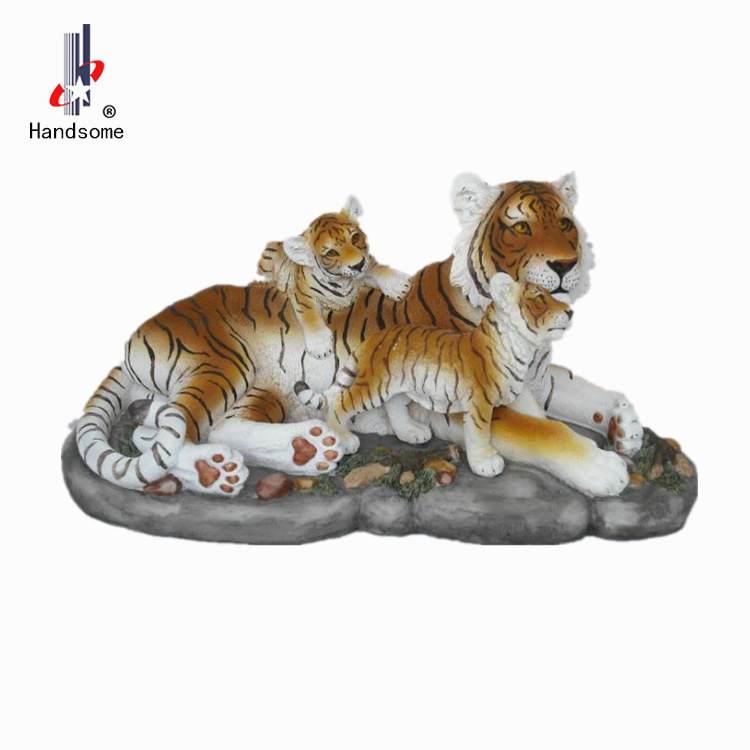 9.5 Inch Handmade Quanzhou Crafts Resin Tiger Statue