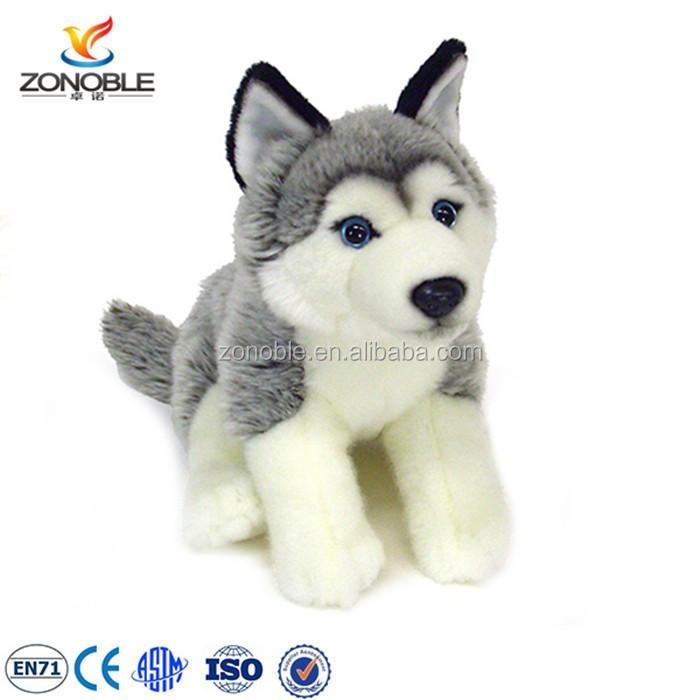 Cuddly Plush Husky Stuffed Dog Puppy Dolls Animal Toys Custom