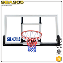 Standard Size Fiber Glass Basketball Backboard Stand Set