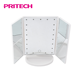 PRITECH Oem Customized 21 LED USB Charge Battery Powered Light Folding Makeup Mirror