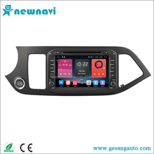 Support steering wheel control Android 6.0 car radio 7 inch car dvd player with GPS/4g&wifi for Kia Morning/Picanto 2012
