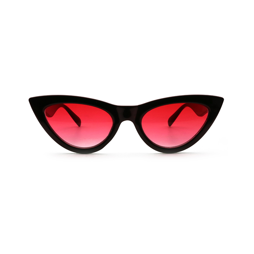 9526c730561 YI2-1 Fashion 2018 Retro Cat Eye Polarized Acetate Women Small Triangle  Vintage Sunglass Cheap Red Female UV400 Sun Glasses