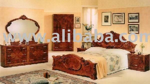 barocco noce camera da letto in stile set-Camera da letto suite-Id ...