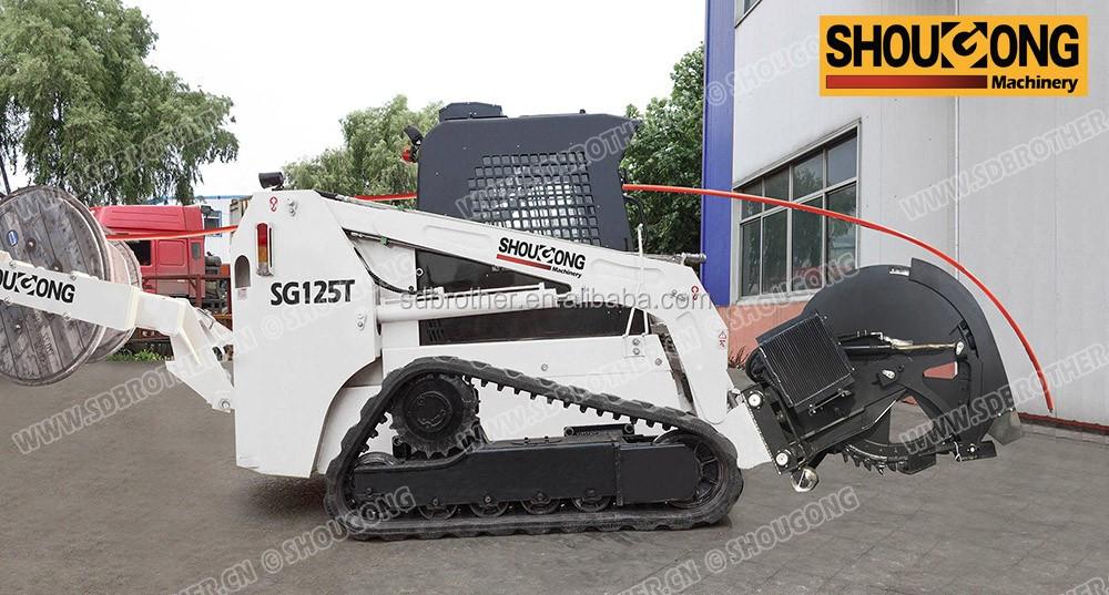 Trenching Machines Working : Micro trenching machine fiber optic cable installation