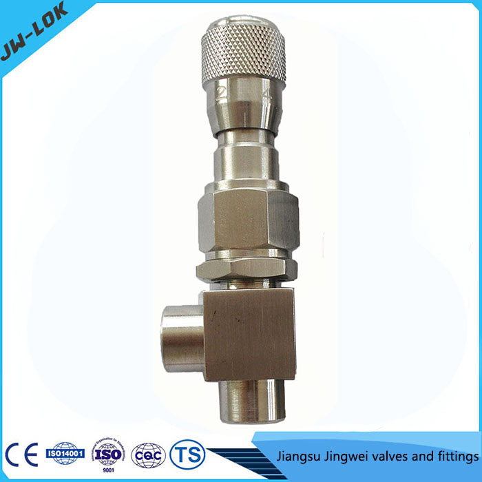 Stainless Steel 2000 Psi 1/8 Inch Threaded Gas Flow Meter Needle Valve