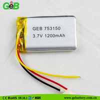 Polymer Small battery 3.7v 1200mah China Lipo Battery Pack for Digital Camera