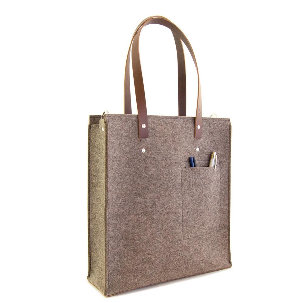 aa1cda32b80 Non woven felt tote bag popular trend classy felt shoulder bag shoulder  long strip bag for girls
