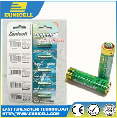Best Selling primary alkaline battery 12v a27 27a dry battery l828 27A 12VOLT alkaline battery