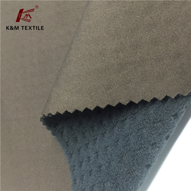 Knitted 100 Polyester Fabric Bonded with Jacquard Polar Fleece Fabric Softshell
