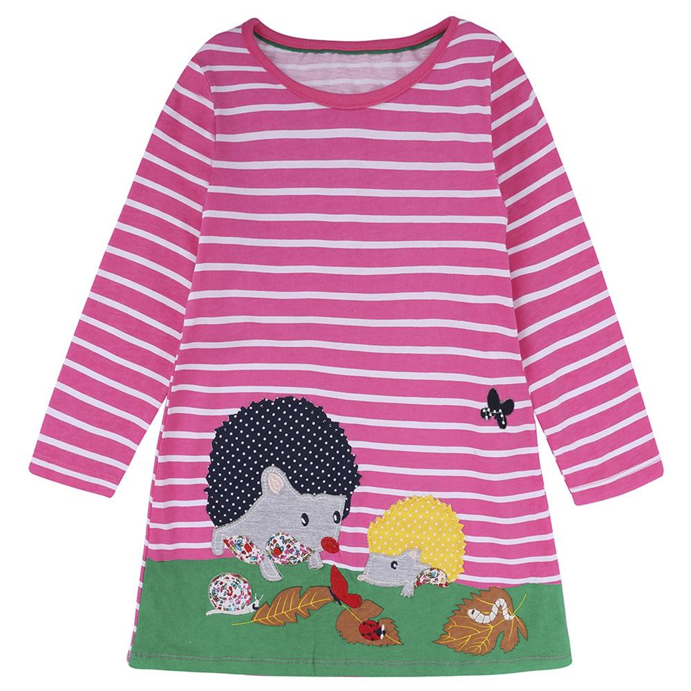 Niñas vestido Otoño 2017 marca niños vestidos para Niñas Ropa animal ...