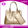 2016 style New Products gold bag make up china supplier purses and handbags with hardware hang tag