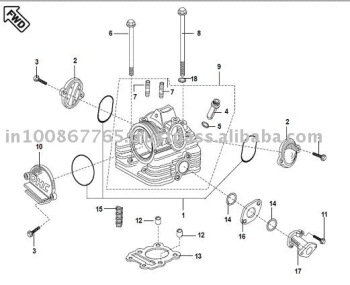 CYLINDER HEAD 109486293 on wiring diagram of honda activa