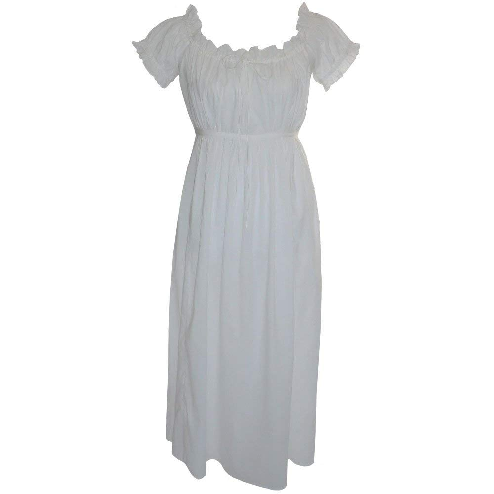 2b030ac747 Get Quotations · Powell Craft Womens Traditional Pure Cotton Darcy Nightgown.  Us Size 6-8.white