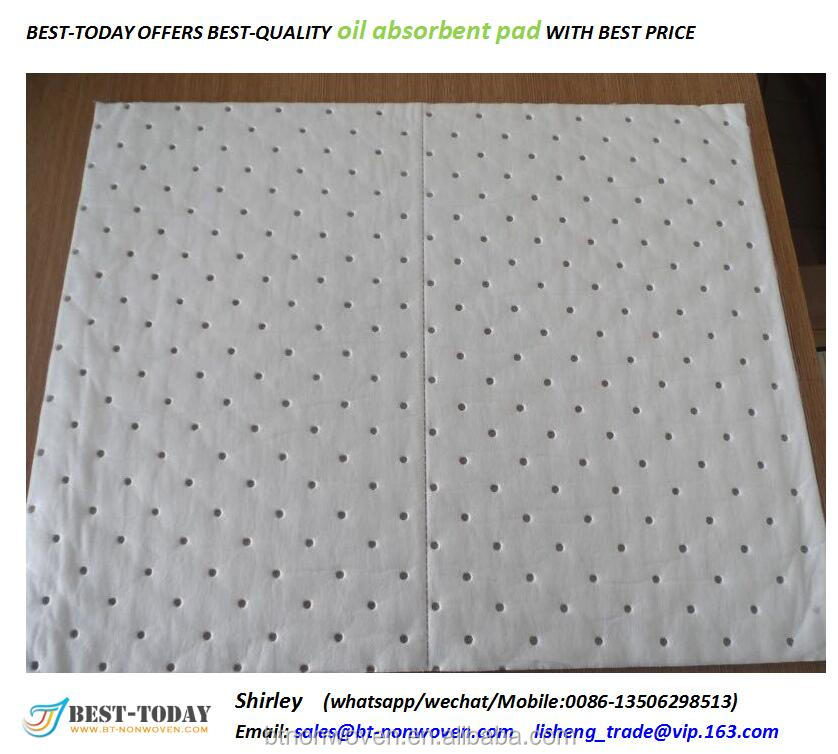 200gsm white water repel and oil absorb only Oil absorben Mats