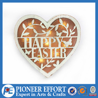 Wood heart shape ornament for easter decoration