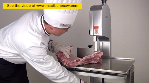 Frozen Meat Cutting Machine With Sliding Working Table