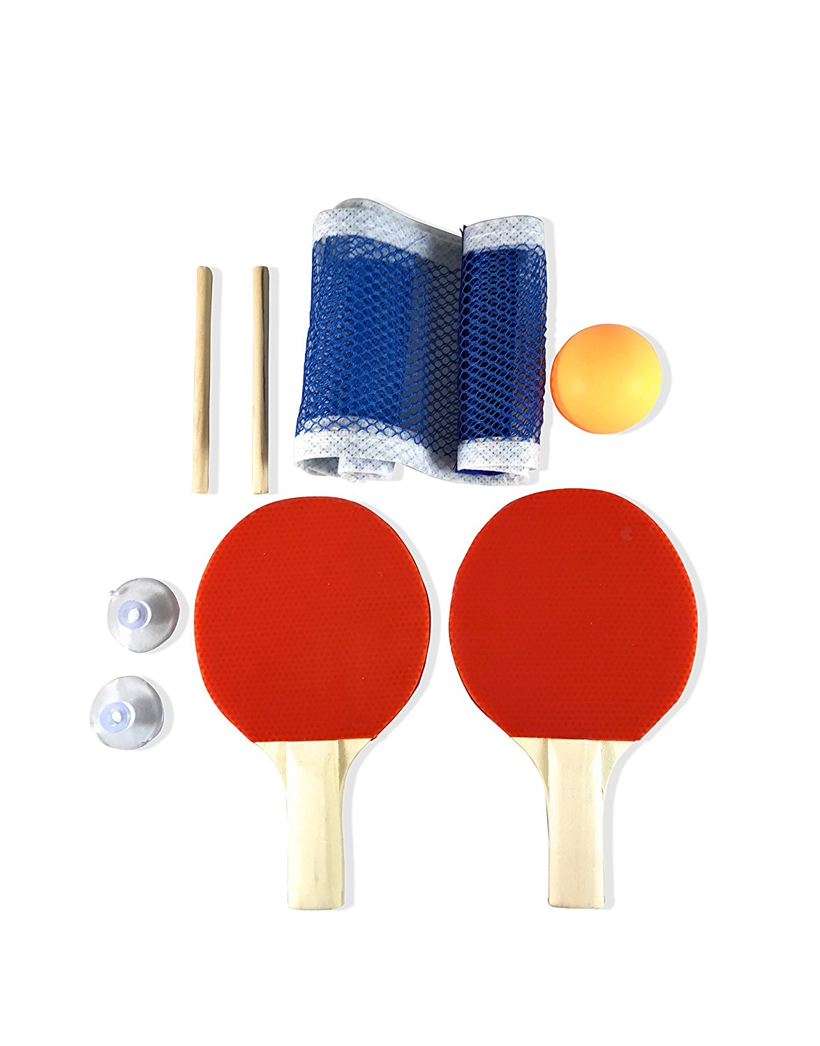Mini Ping Pong Paddle Set - Indoor Table Tennis Racket Set by MightySpin - Great Portable Sport For Kids