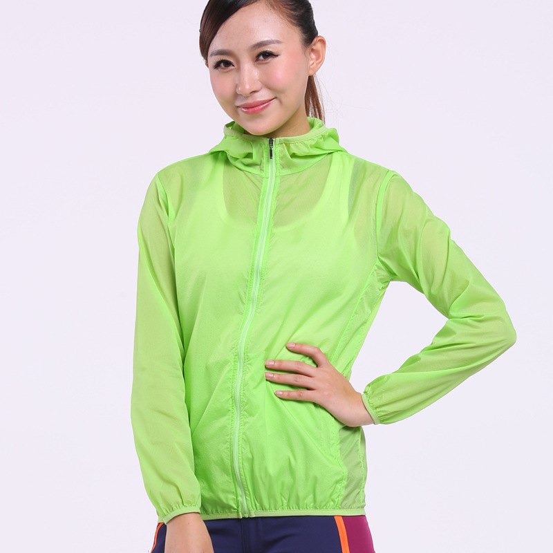 Women Quick Dry Hiking Sun&UV Protection Outdoor Skin Rain water-resistant jacket with hood Jacket