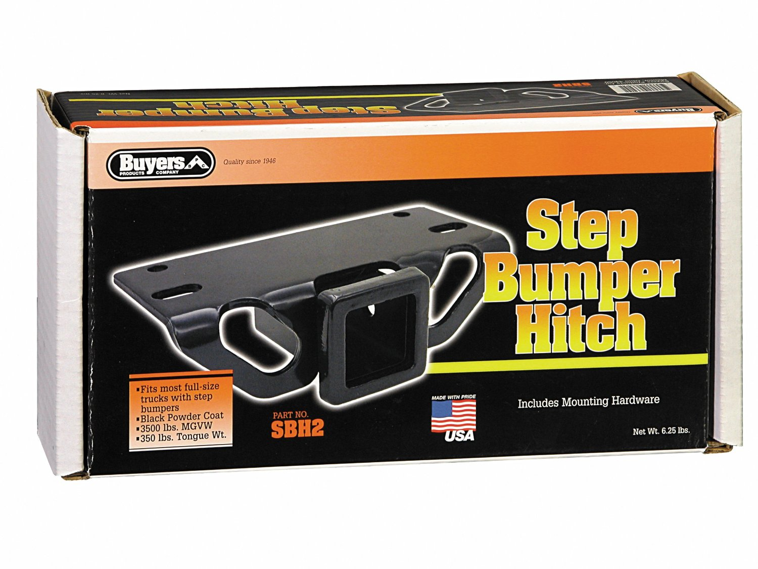 """Buyers Products SBH2 Step Bumper Hitch (with 2"""" Receiver Opening)"""