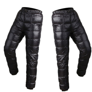 custom logo puff jacket 90% down 10% feather outdoor nylon white duck down pants