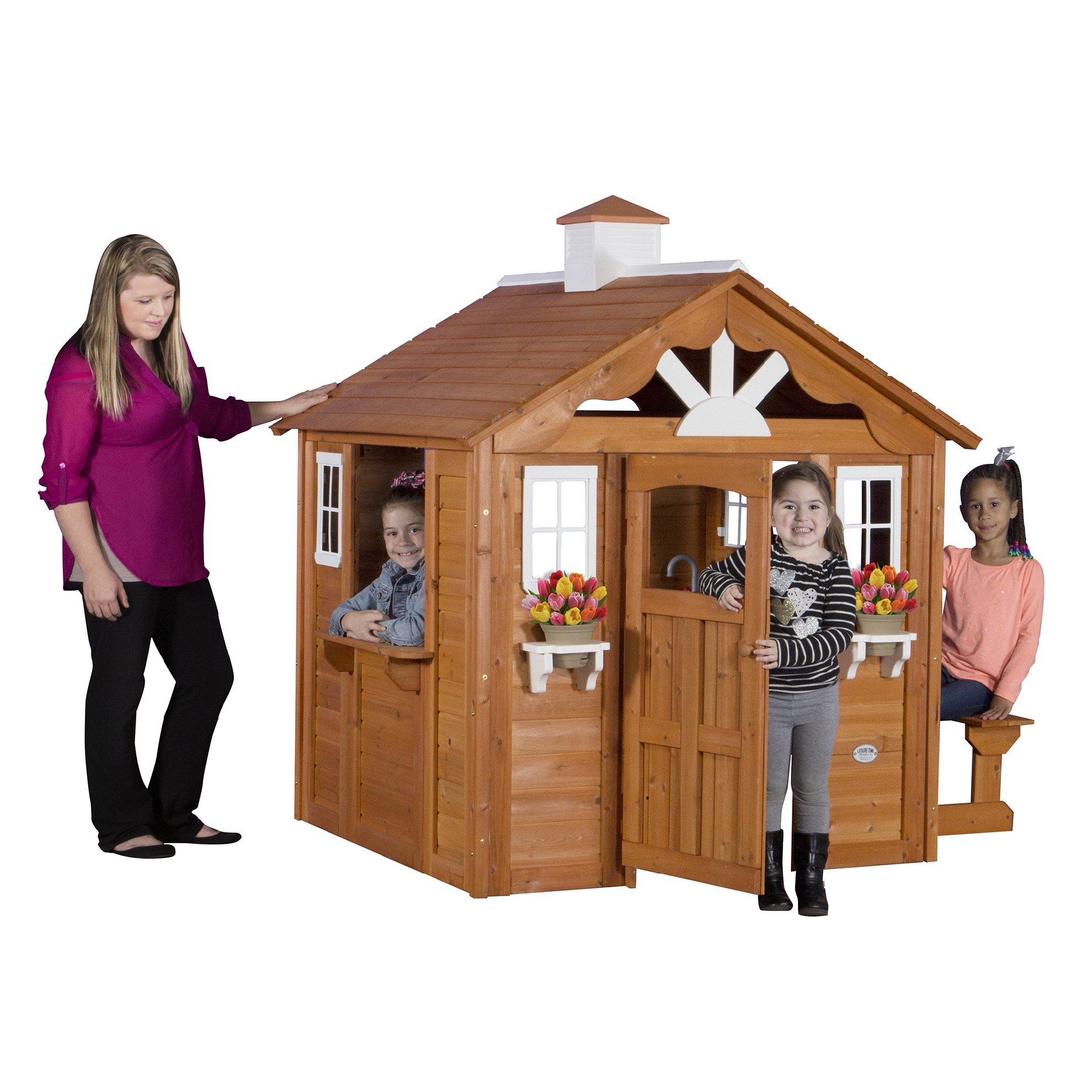 Buy Backyard Discovery Spring Cottage Cedar Playhouse in ...