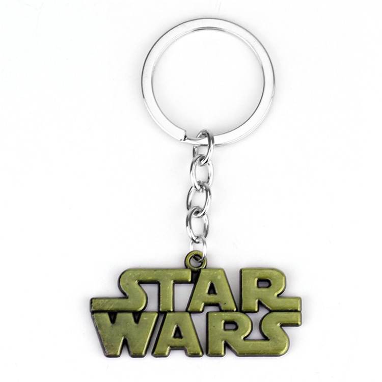 Popular Teleplay Wars of Star Series Keychain Letter Logo Metal Alloy Pendant Keyring <strong>Cute</strong> Jewelry <strong>Gifts</strong> For Men or Women