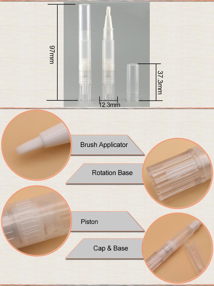 Ml 1.5ml ml 4 2 1ml Vazias Milagre Torção Dental Dispensador de Gel Líquido Lápis de Sobrancelha Pestana Óleo de Cutícula caneta