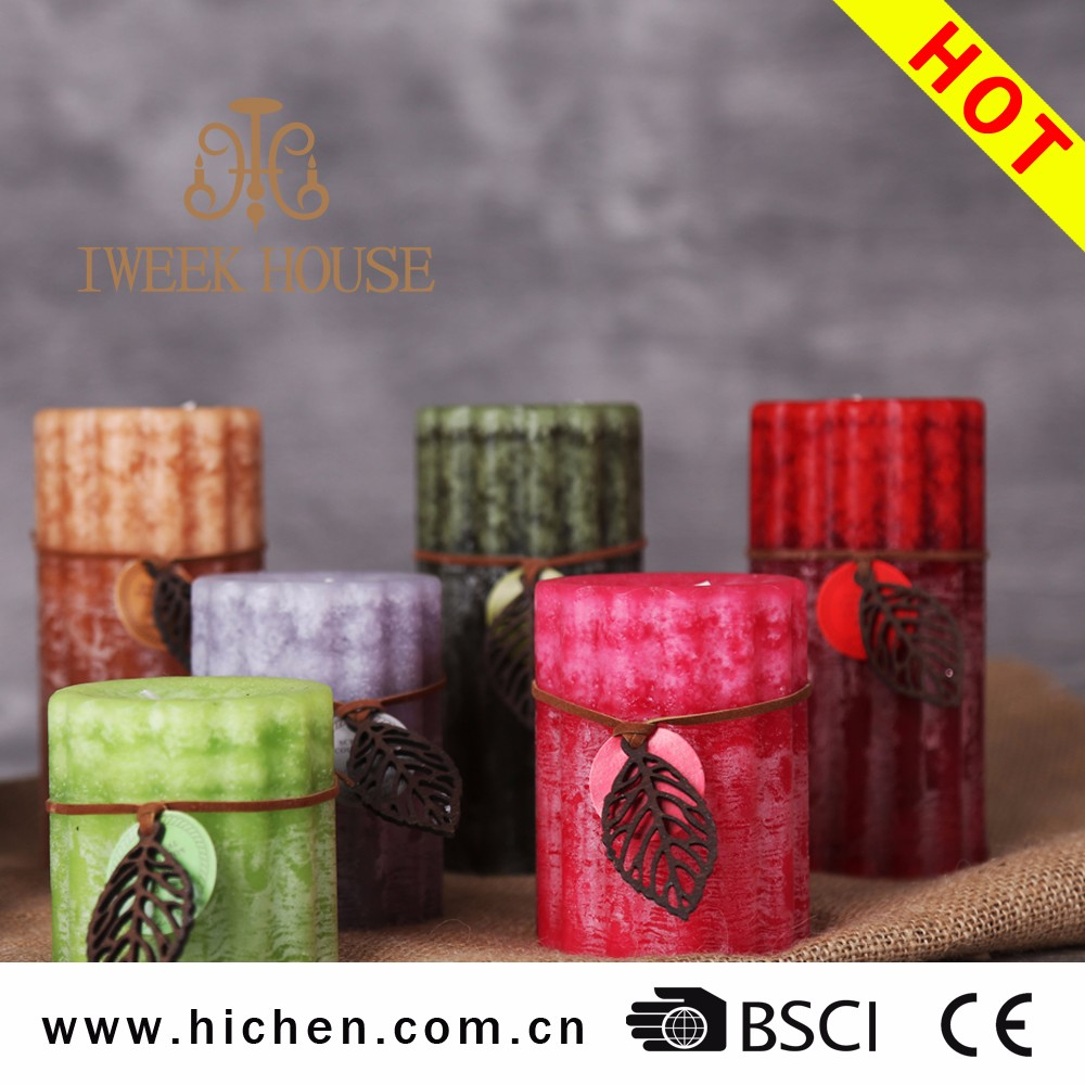 unidslote pilar esencial fragancia de aceite de cera perfumada vela decorativa de