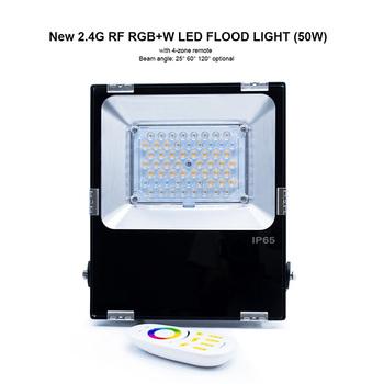 High Power Rgbw Color 50w Cob Led Flood Light Ip65 Waterproof 4-zone Wifi  Mobile Phone Rf Remote Control Ce Rohs 3year Warranty - Buy Rgbw Led Flood