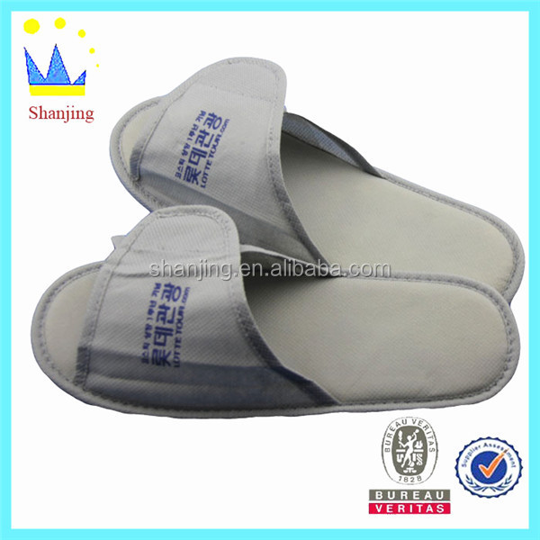 different material hotel slipper custom disposable open toe hotel slippers
