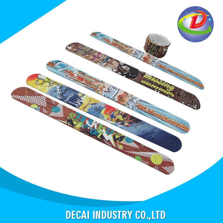 China market wholesale ruler silicone slap band