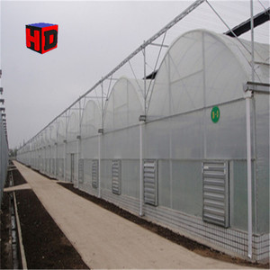 Flower planting warm house used 200 micron green woven fabric film,custom large size tunnel greenhouse film