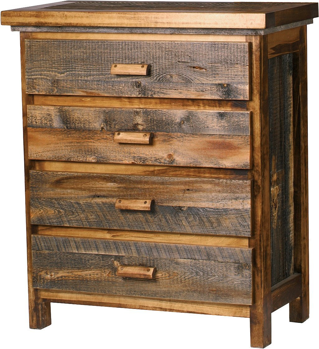 Mountain Woods Furniture The Wyoming Collection 4 Drawer Chest, Antler Pull