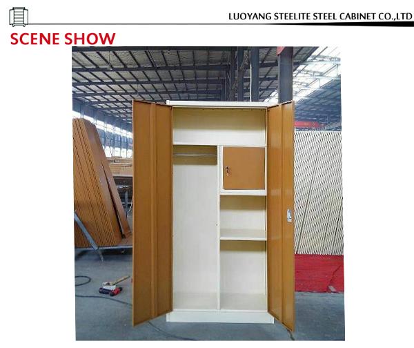 Modern Luxury Steel Bedroom Wardrobe Design Living Room Almirah