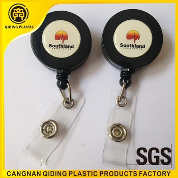 plastic badge reel holder