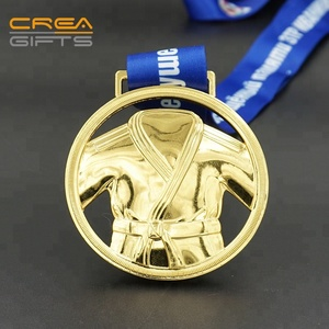 Factory Direct Sale Custom Metal Silver Plated Souvenir Wrestling Sport Gold Medals No Minimum Order