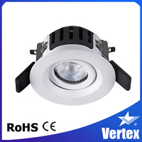 SAA C-tick LED Downlight Universal Tilt 7W COB LED Downlight with Smart Spring