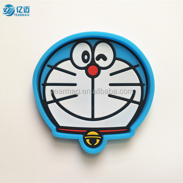 Custom embossed soft pvc silicone tea cup coaster for cheap promotional gifts no minimum order