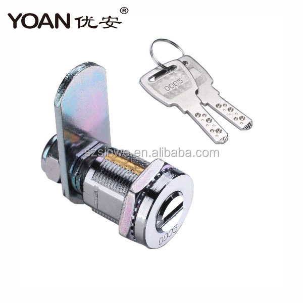 China factory supplier the brass tubular cam lock for glass cabinet and cash drawer