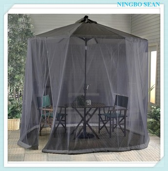 9 Black Umbrella Table Screen Patio Mosquito Net