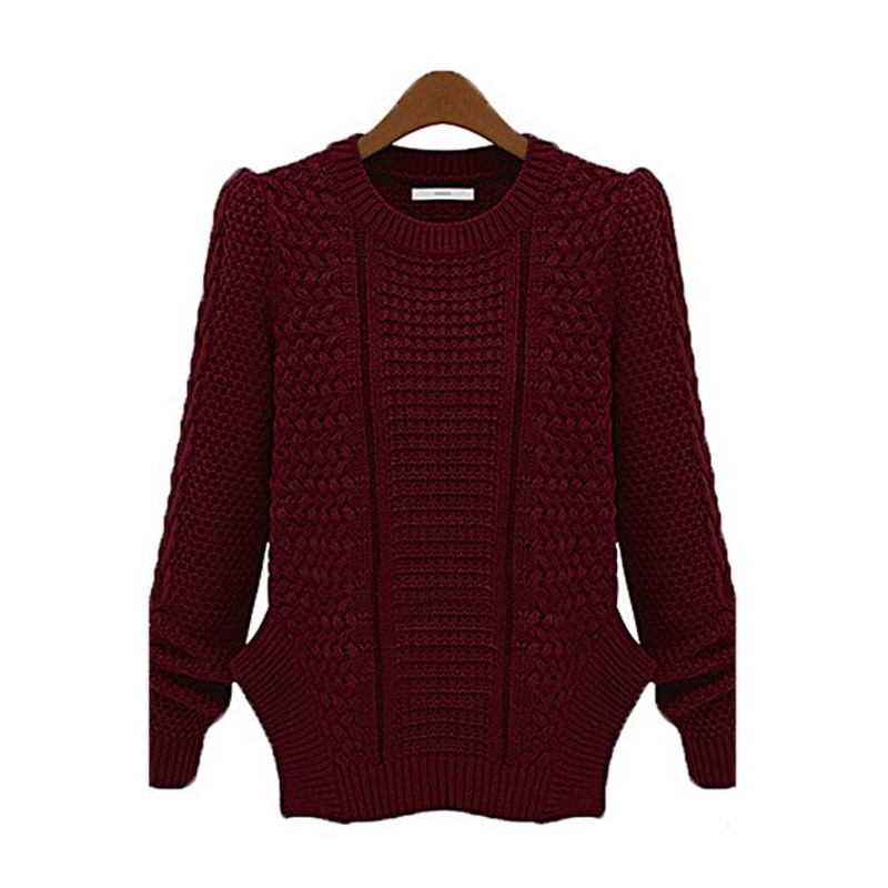 3f96b7e931 Get Quotations · European Winter Fashion O-Neck Knitted Sweater Gradient  Loose Casual Pullover Women Sweaters And Pullovers