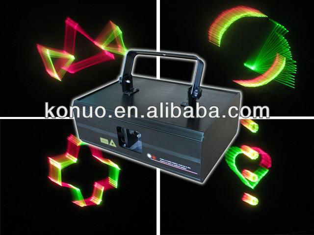 300mW red&green&yellow three color RGY 3D Animation Laser Stage Lights show machine