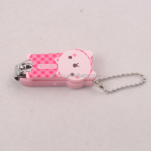 Advertising Top Quality Plastic Nail Clipper with keychain