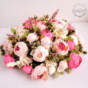 Iflower Decorative Artificial Peony Flower Ball For Wedding ...