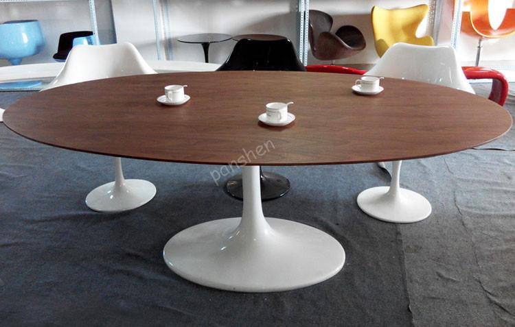 Hedendaagse ontwerp meubels eero saarinen tulip ovale houten tafel