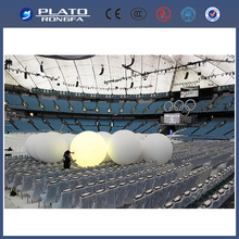 giant white balloons with led, inflatable zygote balls for event, party balls