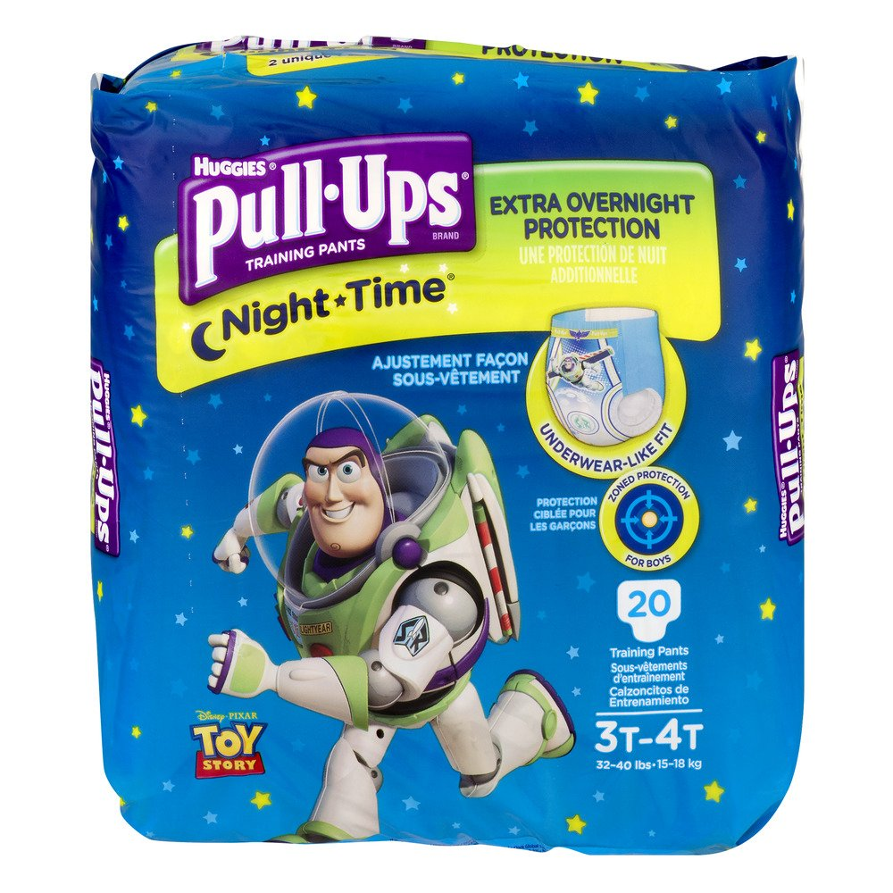 Get Quotations · Huggies Pull-Ups Nighttime Training Pants for Boys, 20  Count