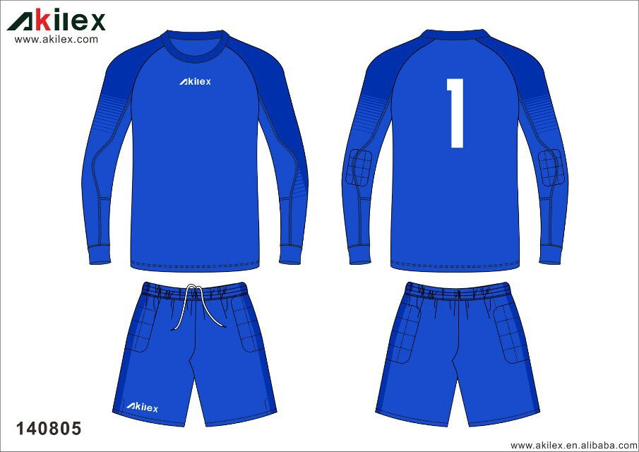 fashion design blue royal color goalkeeper jersey