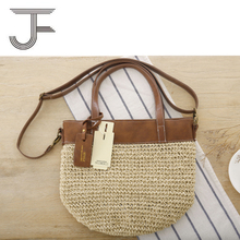 hot sale Papyrus Crochet bag girls straw shopping tote shoulder bag